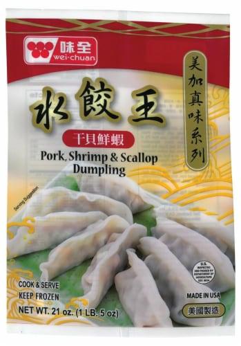 Wei Chuan Pork Shrimp & Scallop Dumpling Perspective: front
