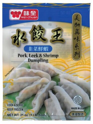 Wei-Chuan Pork Leek & Shrimp Dumpling Perspective: front