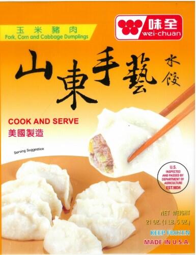 Wei-Chuan Shandong Pork & Corn Dumpling Perspective: front