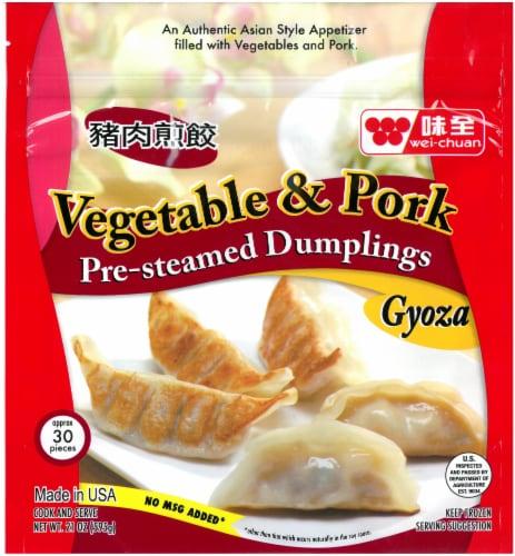 Wei-Chuan Vegetable & Pork Dumplings Perspective: front