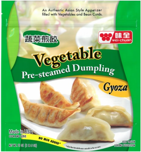 Wei Chuan Pre Steamed Vegetable Dumplings Perspective: front