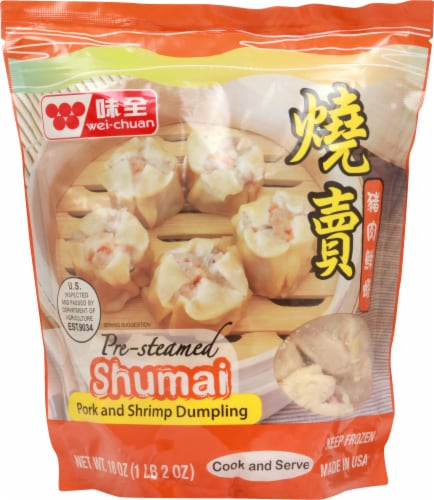 Wei-Chuan Pre-Steamed Shumai Pork & Shrimp Dumplings Perspective: front