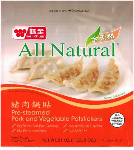 Wei-Chuan Natural Pork Potsticker Perspective: front