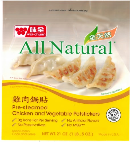Wei-Chuan Natural Chicken Potstickers Perspective: front