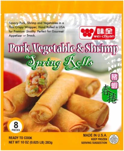 Wei-Chuan Pork Vegetable & Shrimp Spring Rolls Perspective: front