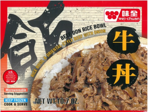Wei-Chuan Beef Don Rice Bowl Perspective: front