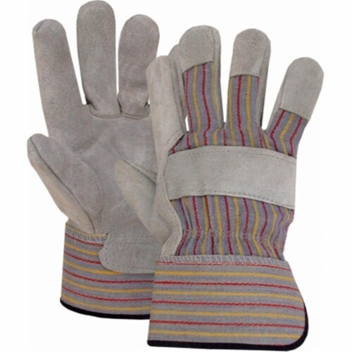 Boss Leather Palm Safety Gloves Perspective: front