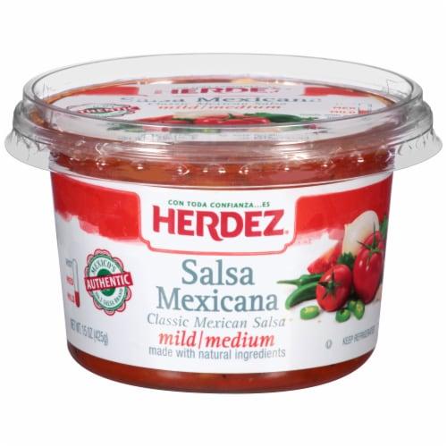 Herdez Mild/Medium Salsa Mexicana Perspective: front
