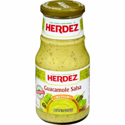 Herdez Medium Guacamole Salsa Perspective: front
