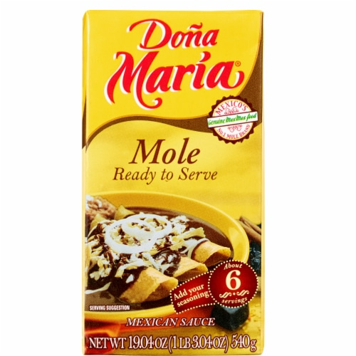 Dona Maria Mole Ready to Serve Sauce Perspective: front