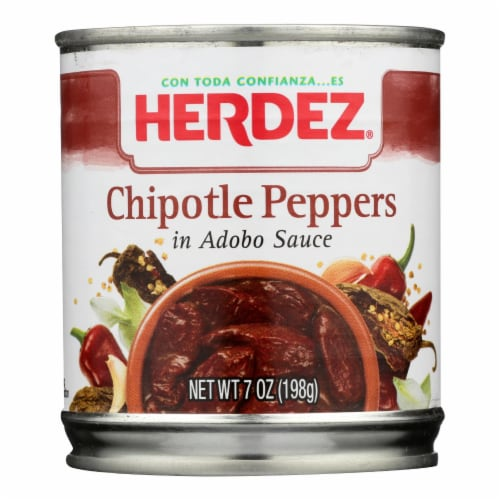 Herdez Peppers - Chilpotle - Case of 12 - 7 oz. Perspective: front