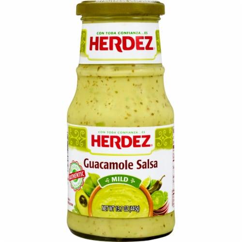 Herdez Mild Guacamole Salsa Perspective: front
