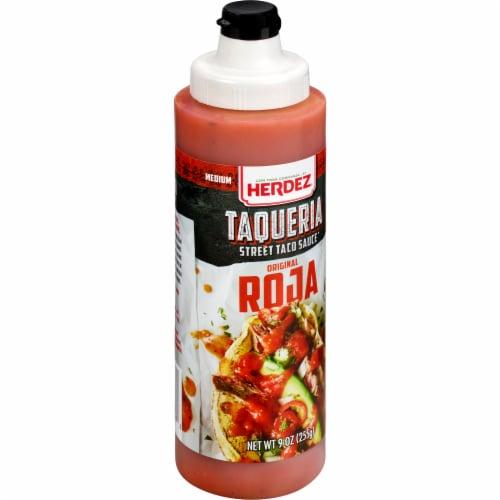 Herdez Taqueria Roja Street Taco Sauce Perspective: front