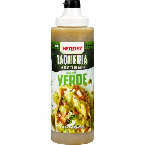 Herdez Taqueria Verde Street Taco Sauce Perspective: front