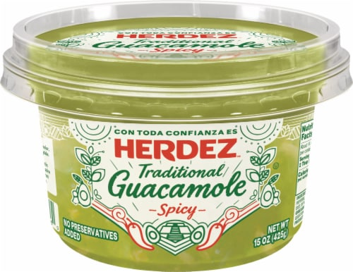Herdez Traditional Spicy Guacamole Perspective: front