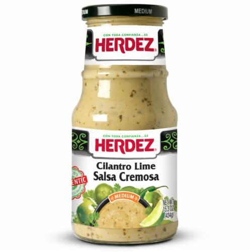 Herdez Medium Cilantro Lime Salsa Cremosa Perspective: front