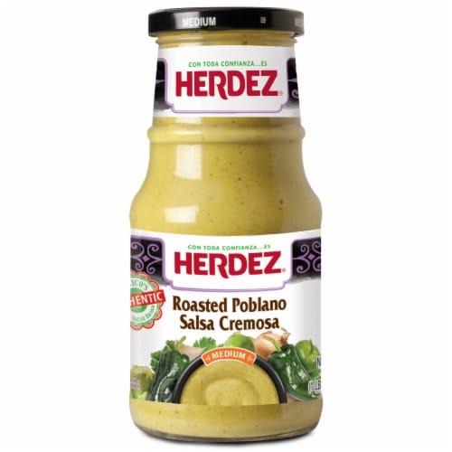 Herdez Medium Roasted Poblano Salsa Cremosa Perspective: front