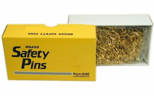 Prym Bulk Safety Pins Gilt Plated Brass 0 (Clsd) Perspective: front
