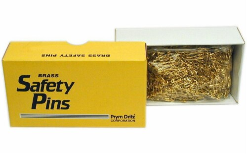 Prym Bulk Safety Pins Gilt Plated Brass 2/0 (Clsd) Perspective: front