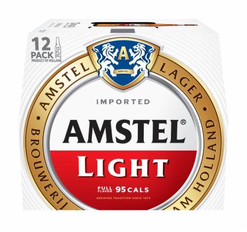 Amstel Light Beer 12 Pack Perspective: front