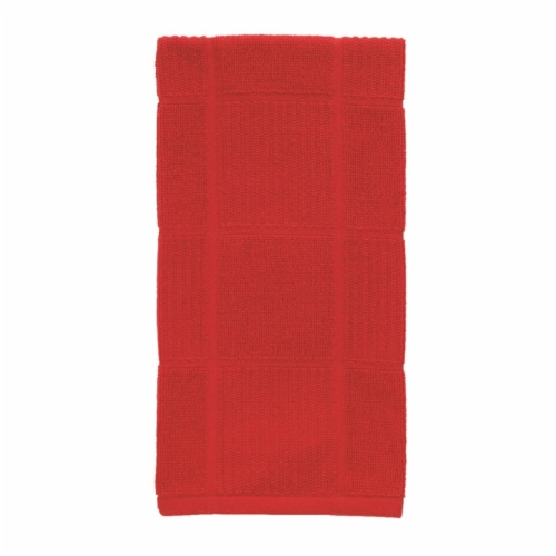 T-Fal Red Cotton Kitchen Towel - Pack of 6 Perspective: front