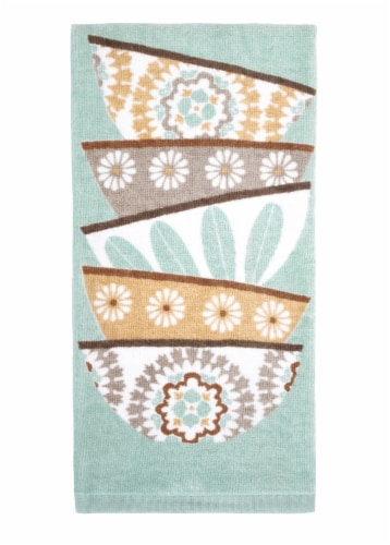RITZ Fiber Reactive Stacked Bowls Kitchen Towel Perspective: front