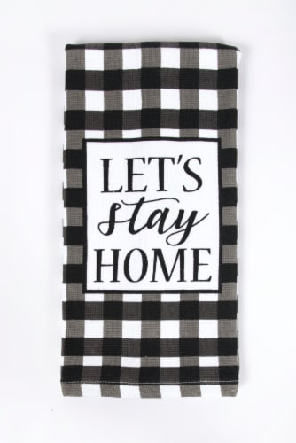 RITZ Print Dual Kitchen Towel - Let's Stay Home Perspective: front
