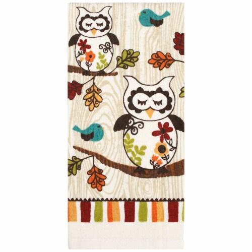 RITZ® 19751 Printed Dual Kitchen Towel 16X25 SLEEPY OWL Perspective: front