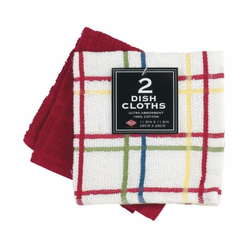 Ritz Paprika Cotton Dish Cloth, 2 per Pack - Case of 3 Perspective: front