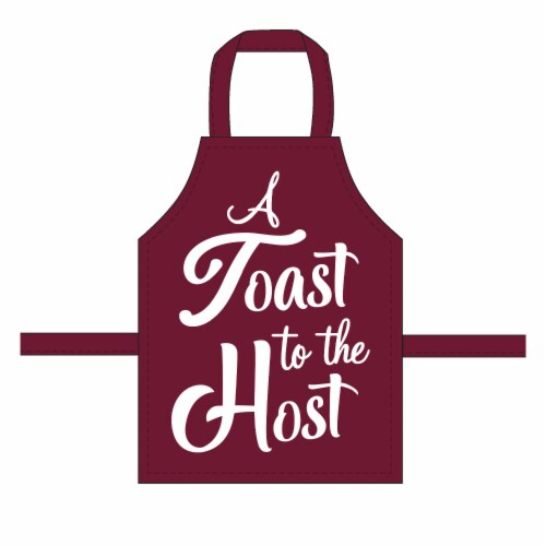 RITZ Toast to Host Wine Apron - Burgundy Perspective: front