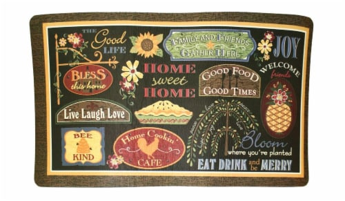 Ritz Kitchen Basics Home Sweet Home Comfort Mat - Multi-Colored Perspective: front