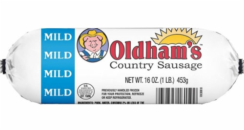 Oldham's Mild Country Sausage Roll Perspective: front