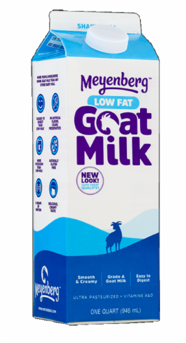 Meyenberg Low Fat Goat Milk Perspective: front