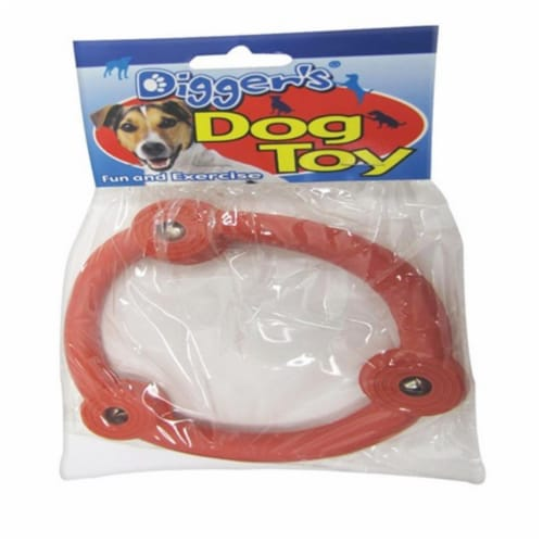 Boss Pet Multicolored Retriever Ring Rubber Dog Toy Large 1 - Case Of: 1; Perspective: front