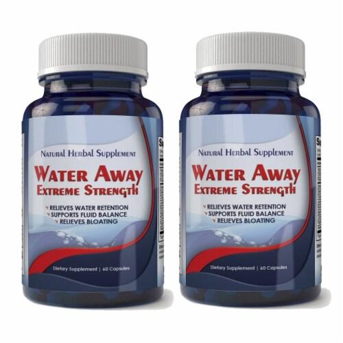 Water Away Natural Diuretic Water Pill (2 bottles) Perspective: front