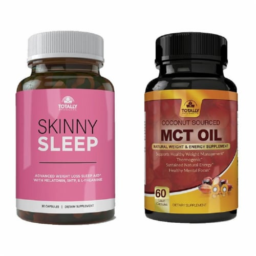 Skinny Sleep and MCT Oil Combo Pack Perspective: front