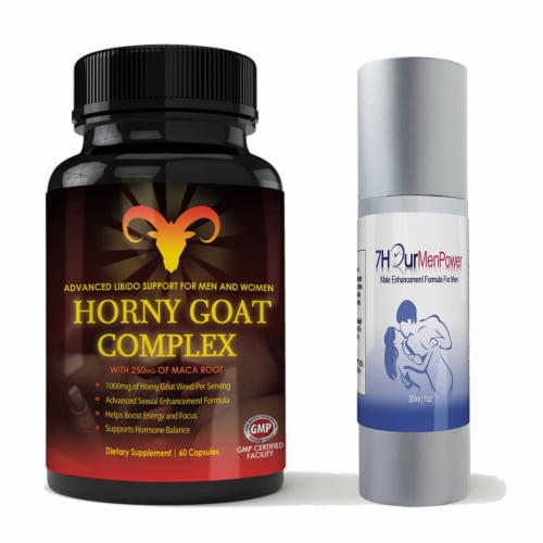 Horny Goat Complex and 7Hour Men Power Combo Pack Perspective: front