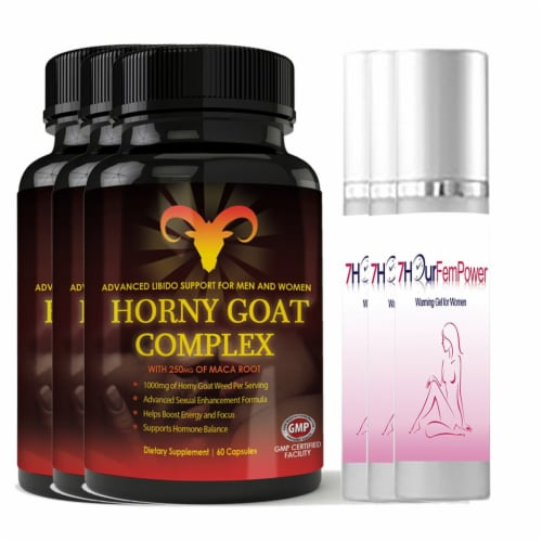 Horny Goat Complex and 7Hour Fem Power Combo Pack Perspective: front