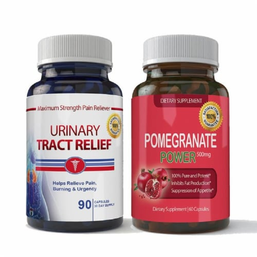 Urinary Tract Relief and Pomegranate Extract Combo Pack Perspective: front