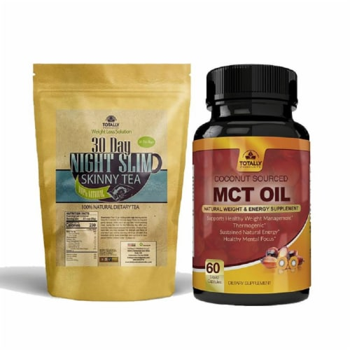 Night Slim Skinny Tea and MCT Oil Combo Pack Perspective: front