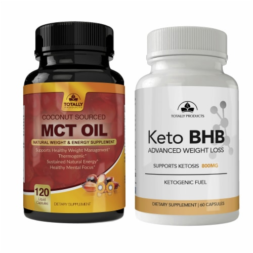 Totally Products Keto Slim BHB & Pure MCT Oil Combo Pack (3sets) Perspective: front