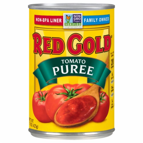 Red Gold Tomato Puree Perspective: front