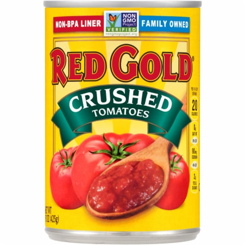 Red Gold Crushed Tomatoes Perspective: front
