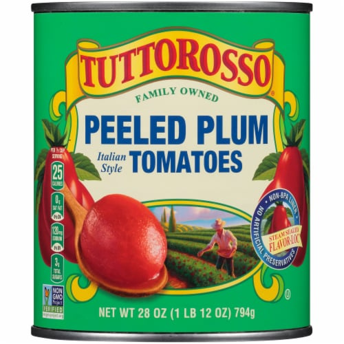Tuttorosso Peeled Plum Italian Style Tomatoes Perspective: front