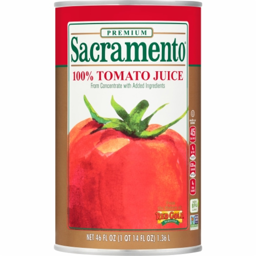 Sacramento 100% Tomato Juice Perspective: front