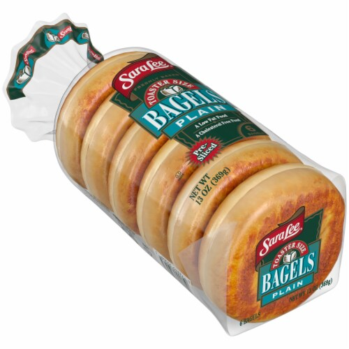 Sara Lee Toaster Size Plain Bagels 6 Count Perspective: front