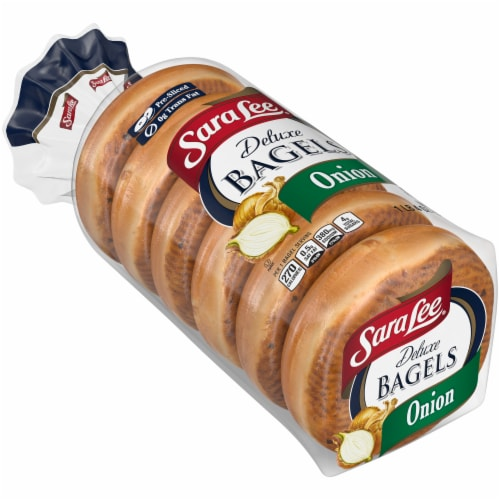 Sara Lee Deluxe Onion Bagels Perspective: front