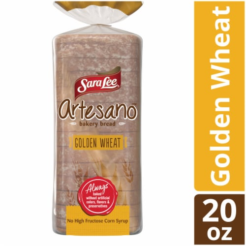 Sara Lee Artesano Golden Wheat Bakery Bread Perspective: front