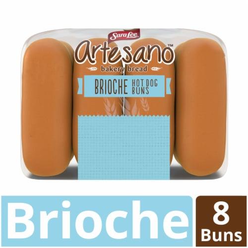 Sara Lee® Artesano Brioche Hot Dog Buns Perspective: front