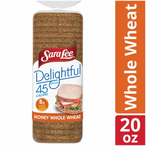 Sara Lee Delightful 100% Whole Wheat Bread Perspective: front